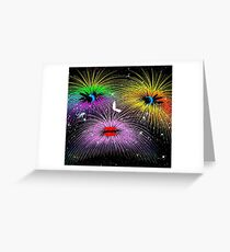 Facetious Fireworks Greeting Card