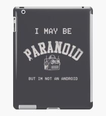 Paranoid Android - Radiohead - White version iPad Case/Skin