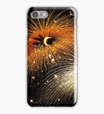 Facetious Fireworks Gold iPhone Case/Skin