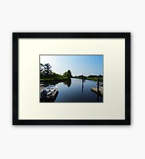 Boat Dock Framed Print