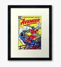 Retro Rare Comic Book Cover Superhero Framed Print
