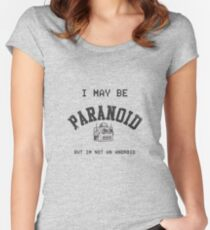 Paranoid Android - Radiohead - Black version Women's Fitted Scoop T-Shirt