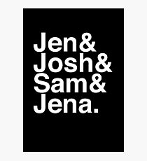 Jennifer & Josh & Sam & Jena. (inverse) Photographic Print