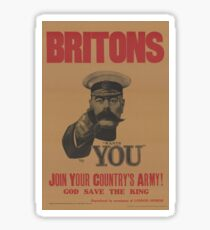 WW1 Recruitment Poster - I Want You! Sticker