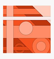 Orange modern material design background Photographic Print