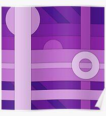 Purple modern material design vector background Poster