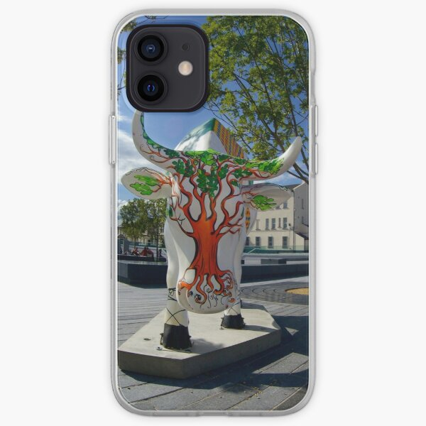 Cows and Trees, Ebrington Square, Derry iPhone Soft Case