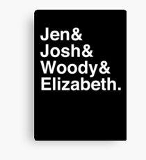 Jen & Josh & Woody & Elizabeth. (inverse) Canvas Print