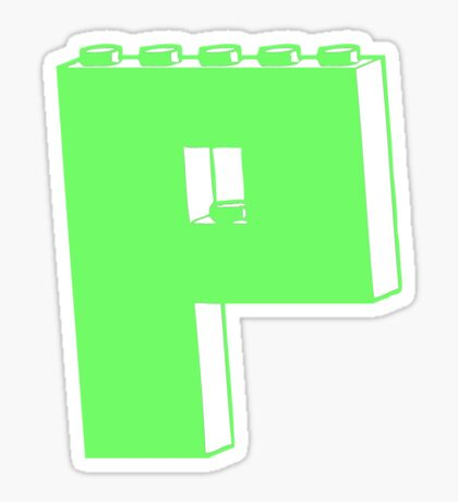 THE LETTER P, Customize My Minifig Sticker