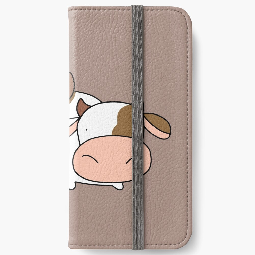 Brown Huhn und Kuh iPhone Flip-Case