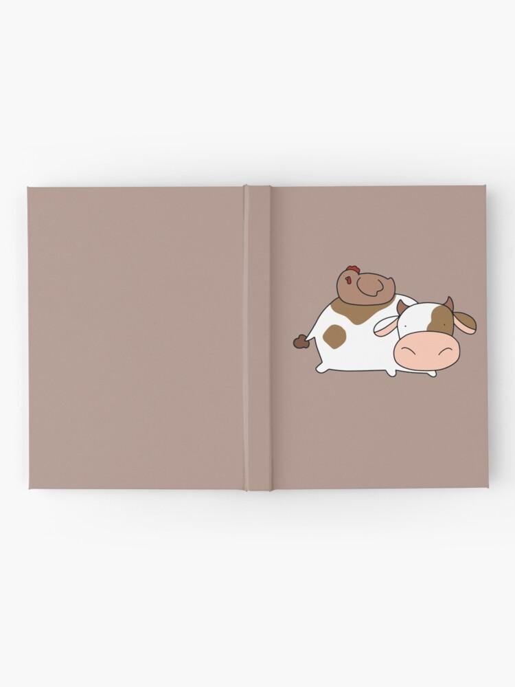 Alternative Ansicht von Brown Huhn und Kuh Notizbuch