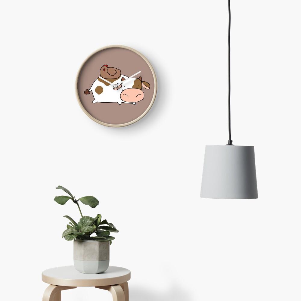 Brown Huhn und Kuh Uhr