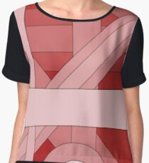 Red modern material design background Chiffon Top