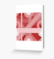 Red modern material design background Greeting Card