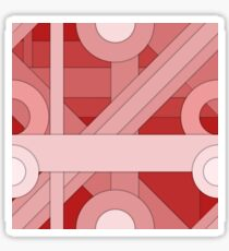 Red modern material design background Sticker