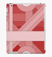 Red modern material design background iPad Case/Skin