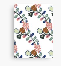 Sprig (white, large scale) Canvas Print