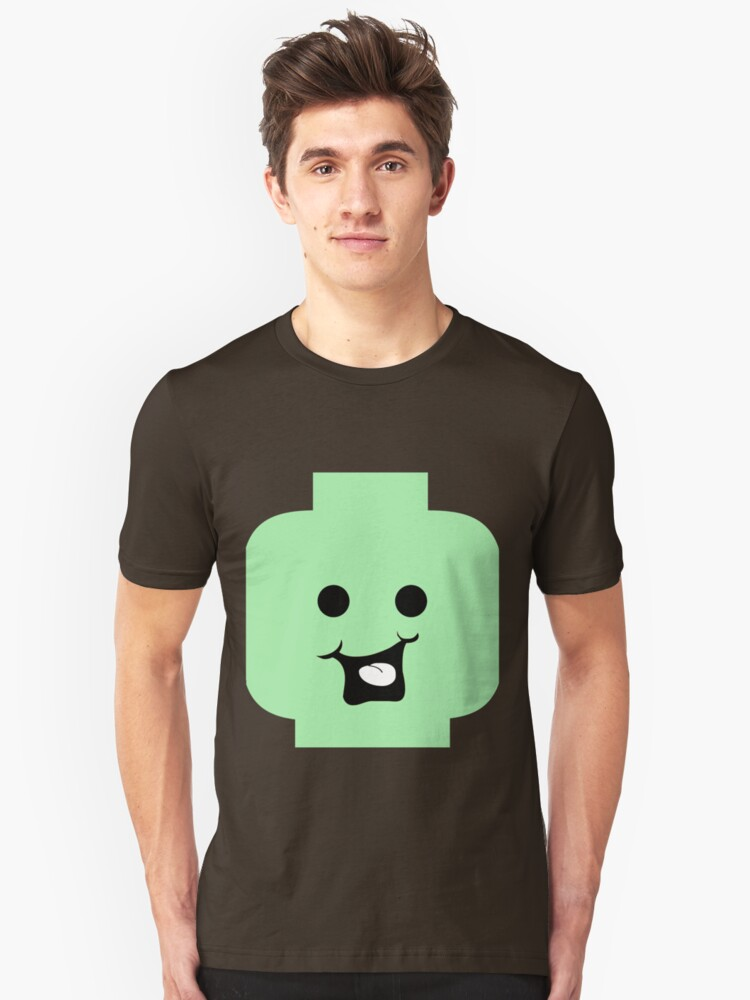 Cheeky Minifig Head Unisex T-Shirt Front