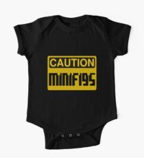 Caution Minifigs Sign One Piece - Short Sleeve