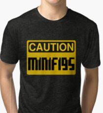 Caution Minifigs Sign Tri-blend T-Shirt