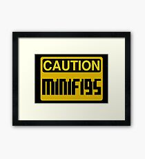 Caution Minifigs Sign Framed Print