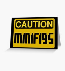Caution Minifigs Sign Greeting Card