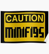Caution Minifigs Sign Poster