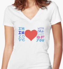 Shape of you - Ed Sheeran Women's Fitted V-Neck T-Shirt