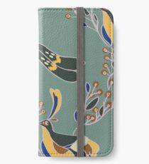 Peahen (green, large scale) iPhone Wallet/Case/Skin