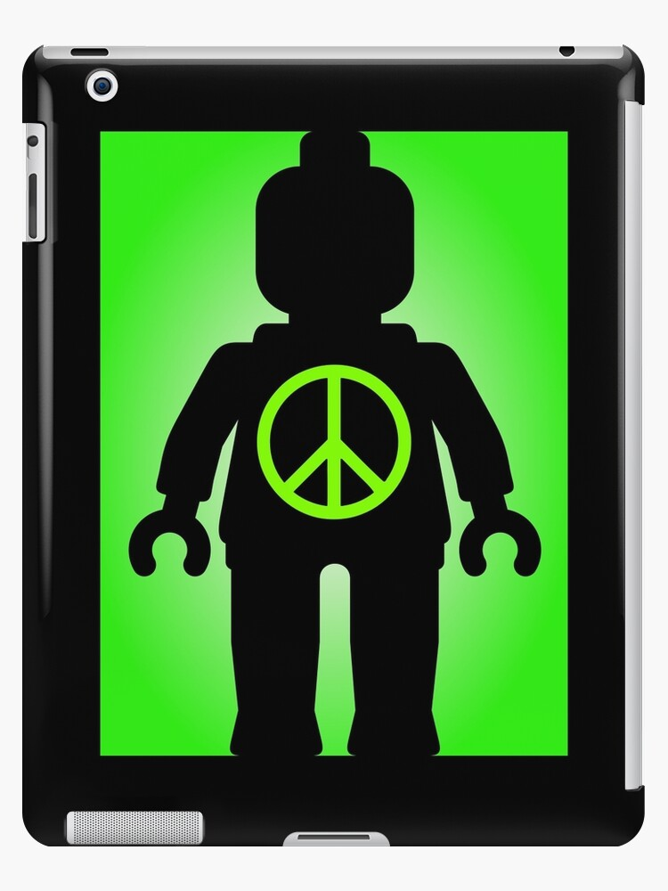Black Minifig with Peace Symbol, Customize My Minifig by ChilleeW