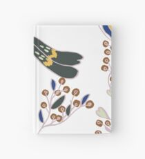 Peahen (white, large scale) Hardcover Journal