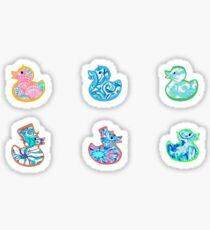 Cute Tie Dye Duckies pack Sticker