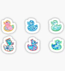 Cute Tie Dye Duckies pack Sticker