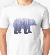 Misty Forest Bear - deep purple Unisex T-Shirt