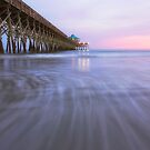 Sunset At Folly Beach Pier by NFirebaugh