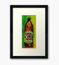 VB - Victoria Bitter - Australia Beer Framed Print
