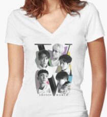 SHINee - Tour Poster Women's Fitted V-Neck T-Shirt