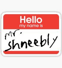 School of Rock 'My Name is Mr. Shneebly' T-Shirt Sticker