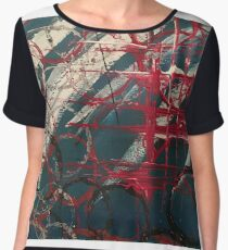 "Orginal painting ""lost in space"" Women's Chiffon Top"