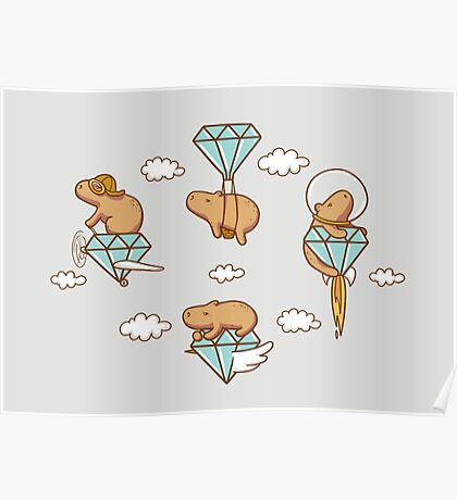 Capy in the Sky with Diamonds Poster
