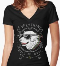 Dog Shirt Women's Fitted V-Neck T-Shirt