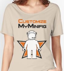 Banksy Style Astronaut Minifig and Customize My Minifig Logo Women's Relaxed Fit T-Shirt