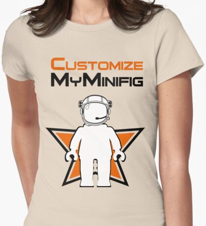 Banksy Style Astronaut Minifig and Customize My Minifig Logo T-Shirt