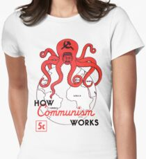 ANTI COMMUNIST PROPAGANDA  Women's Fitted T-Shirt