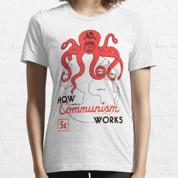 PROPAGANDA ANTI COMUNISTA Camiseta esencial