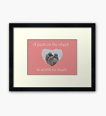 Peck On The Cheek Framed Print