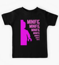 Dark Pink Minifig with MINIFIG text, Customize My Minifig Kids Tee