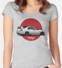 Impreza STI (white) Women's Fitted Scoop T-Shirt
