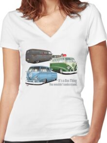 IT'S A BUS THING Women's Fitted V-Neck T-Shirt