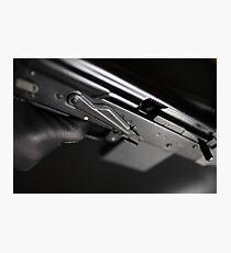 finger on trigger machine gun Photographic Print